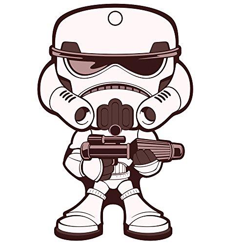 Storm Trooper Lucasfilm LTD Star Wars Disney Auto Car Truck SUV Vehicle Home Office Garage Air Freshener with Hanging Cord - Wiggler Style - Dark Ice Scent (Ice Storm Air Freshener compare prices)