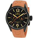 Invicta Men&#39;s 1738 I-Force Black Dial Tan Polyurethane Watch