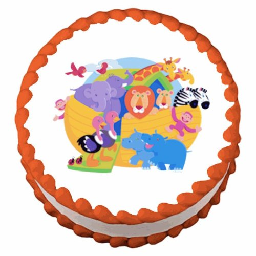 Baby Shower Noah'S Ark ~ Edible Image Cake / Cupcake Topper