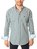 VICKERS Camisa Hombre Harvard (Verde / Blanco)