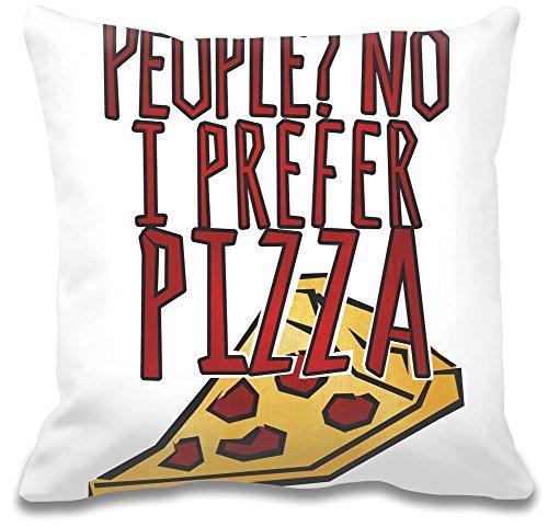 Persone? Preferisco alla Pizza Custom decorativo pillow| Ultra morbido e qualità Premium polyester| Personalizzare Cuscino w/esclusiva e Authentic designs| cuscini decorativi da Bang Bangin