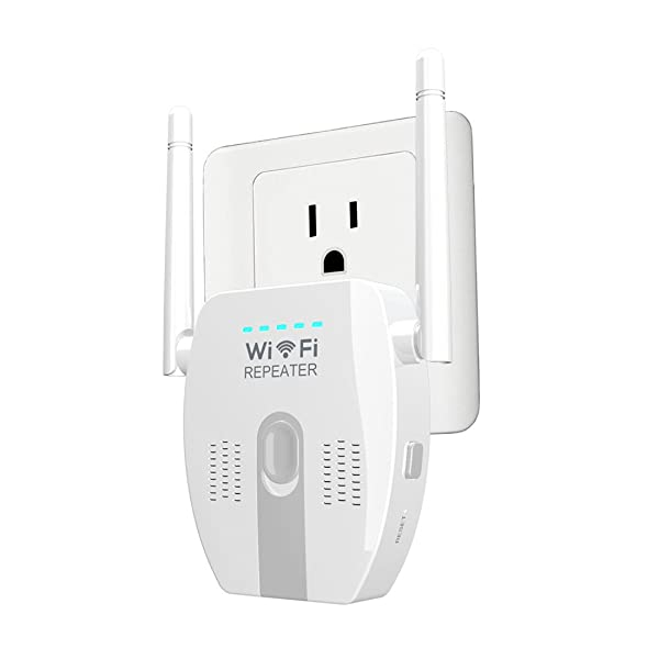 Auxeo WiFi Range Extender, 300Mbps Wireless Router/Repeater/AP Mode WPS Network, N300 WiFi Range Extender Repeater Wifi Signal Booster with External A
