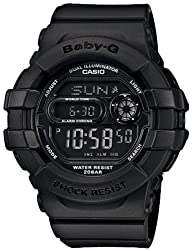 Casio Women's BGD140-1A Black Resin Quartz Watch with Black Dial