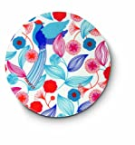 Citta Design 'Tokyo Pheasant' Round Placemats, Set of Four High Grade Polymer Placemats, 13-inch Diameter