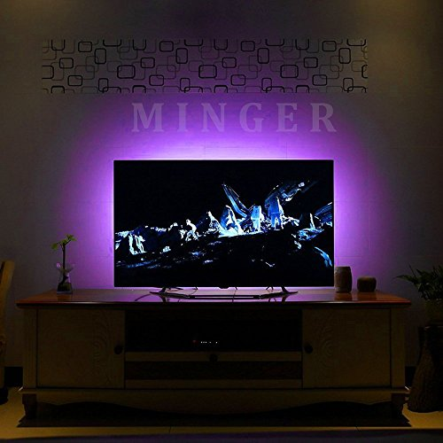 Minger Led Strip Lights Kit 4 Pre Cut One Foot Strips 3