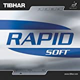 Tibhar rapid soft Table Tennis Rubber (Black)