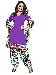 Krisha Print Women's Unstitched Patiala Dress Material (Blue_Free Size)
