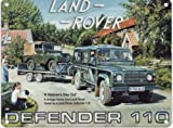 Land Rover Defender 110 by Trevor Mitchell - Large Metal Sign