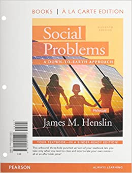Social Problems: A Down to Earth Approach, Books a la