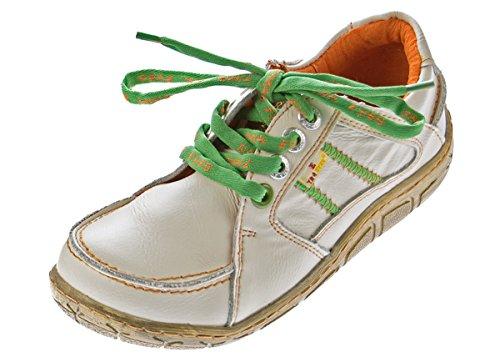Leder Damen Halb Schuhe Comfort Sneakers Used Look Weiß TMA Eyes Gr. 37