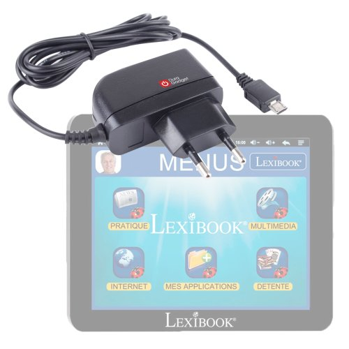 DURAGADGET Chargeur secteur micro USB pour tablette tactile Lexibook Tablet Serenity Ultra MFC410FR dédiée aux seniors - Garantie 5 ans