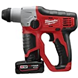 "Milwaukee 2412-22XC M12TM Cordless 1/2"" SDS Plus Rotary Hammer Kit"