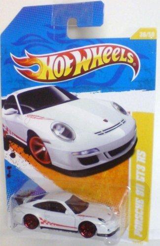 Hot Wheels 2011-036 New Models Porsche 911 GT3 RS WHITE w/Red Stripe 1:64 Scale (Porsche 911 Model Car compare prices)