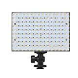 LEDGO 160 Bi-Color (3200K tungsten - 5600K daylight) 1180 Lumen On-Camera LED Panel Light: 95 CRI, Stepless Dimmer, Three (3) Piece Filter Kit Included, Runs on optional Sony Panasonic or AA Batteries
