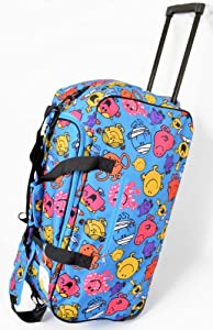 Mr Men & Little Miss Character Wheeled Holdall Bag (Large)