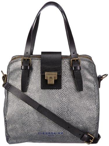 Liebeskind Berlin Womens Karla Handbag Silver Silber (silver/black) Size: 38x40x8 cm (B x H x T)