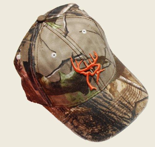 Best Deals! Buck Commander Deer Head Flex Cap, Camo/Orange