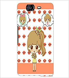 PrintDhaba Cute Doll D-3800 Back Case Cover for MICROMAX A350 CANVAS KNIGHT (Multi-Coloured)