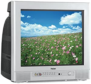 Haier HTR13 13-Inch CRT TV with ATSC Tuner (Silver)