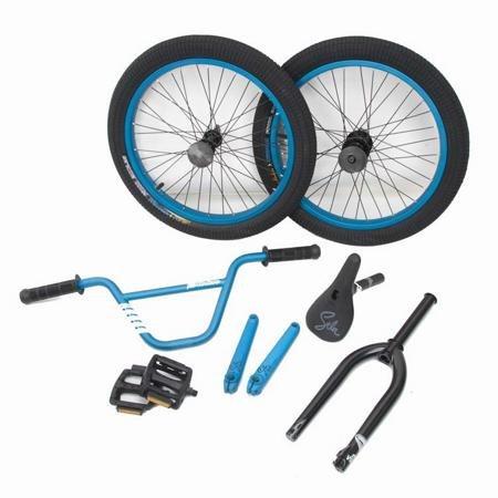 Stolen Sinner Bmx Bike Parts Kit Matte Blue Sporting Goods