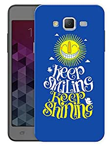 """Humor Gang Keep Smiling Keep Shining Printed Designer Mobile Back Cover For """"Samsung Galaxy J5"""" (3D, Matte, Premium Quality Snap On Case)"""