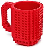 1 X Build-On Brick Mug Red 12 Oz Coffee Mug