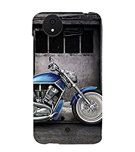 Fantastic Blue Bike 3D Hard Polycarbonate Designer Back Case Cover for Micromax Android A1 :: Micromax Canvas A1 AQ4502