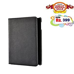 BMS 360 Degree Rotating High Quality PU Leather Smart book Case Cover Stand for Apple iPad mini 2 3 (Black)