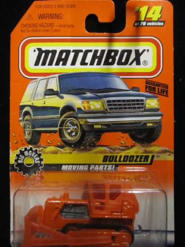 Bulldozer with Moving Parts (Orange) Matchbox Big Movers Series #14 - 1