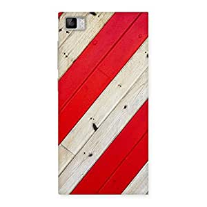 Diagnoal Red Print Back Case Cover for Xiaomi Mi3