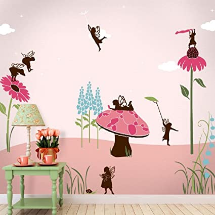 Fairy Wall Stencils for Fairy Wall Mural for Girls Room