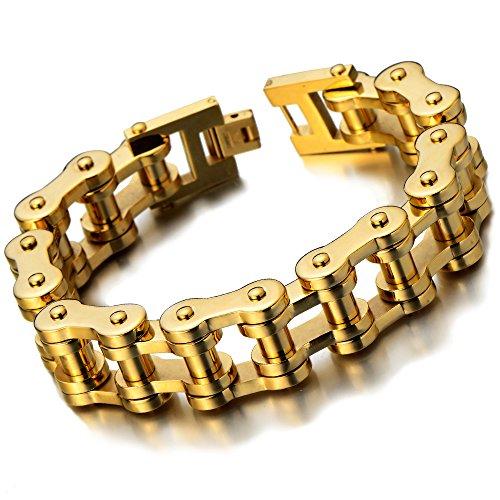 Classique – Or Bracelet Chaîne de Vélo – Bracelet en Acier ... 76a5fed59d93