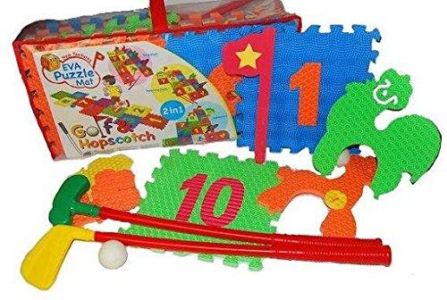 Golf - Set - für Kinder & Erwachsene - incl. Golfschläger / Golfball - PUZZLE TEPPICH / PUZZLETEPPICH SPIELTEPPICH PUZZLEMATTE MOOSGUMMI Minigolf Mini - Kindergolfset
