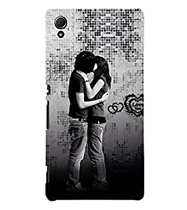 Beautiful Kiss moment 3D Hard Polycarbonate Designer Back Case Cover for Sony Xperia Z4 :: Sony Xperia Z4 E6553