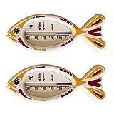 2 Stück Set Kinder Bad Thermometer . Badethermometer Fisch weiß