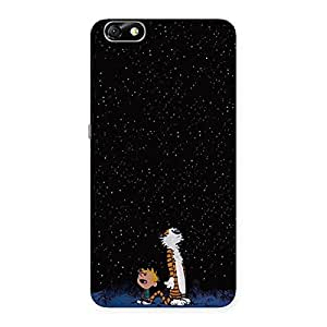 Counting Stars Multicolor Back Case Cover for Honor 4X