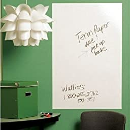 Fancy-fix Vinyl Dry Erase Whiteboard Wall Decals Free 3 Marker Pens and Eraser 17.7 By 78.7 Inches
