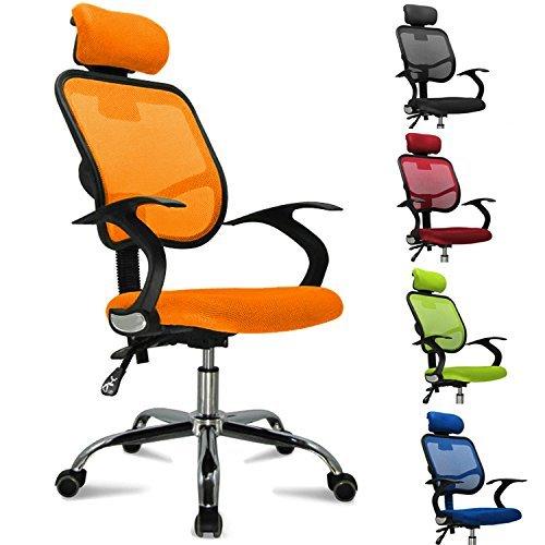 Femor-Bandscheiben-Drehstuhl-Open-Point-inklusive-ArmlehnenStoffbezu-bis-150KG-Hhenverstellung-Farbwahl-OrangeSchwarzGrnBlau-Rot-Orange