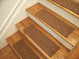 Essential Carpet Stair Treads - Style: Ribbed - Color: Maple Brown - Size: 24\