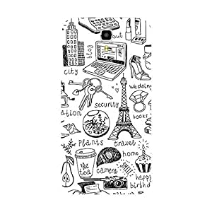 Garmor Designer Plastic Back Cover For Micromax A77 Canvas Juice