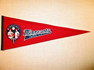 Minnesota Twins Cooperstown Collection Wool Blend MLB Baseball Pennant by Winning+Streak+Sports