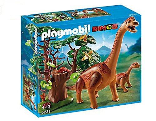 PLAYMOBIL 5231 – Brachiosaurus mit Baby – 1x Flugechse, 1x Kamelhalsfliege, 1x Baum günstig bestellen