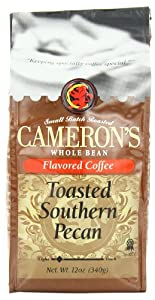 Cameron's Toasted Southern Pecan Whole Bean Coffee, 12-Ounce Bags (Pack of 3)