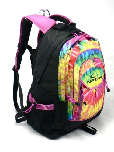 Airbak Groovy Multi-colored Tie-dyed Laptop Backpack