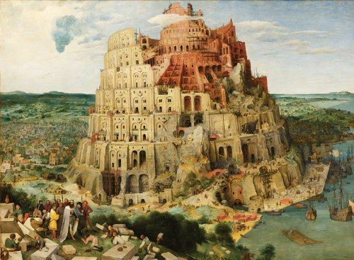 Artifact Puzzles - Bruegel Tower of Babel Wooden Jigsaw Puzzle