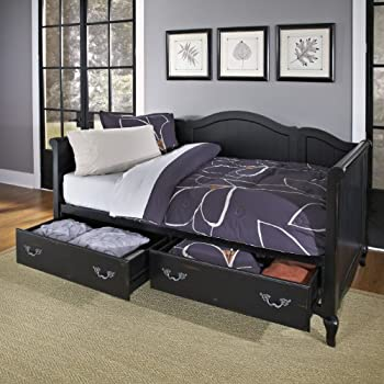 Home Styles 5519-85 The French Countryside Daybed, Rubbed Black