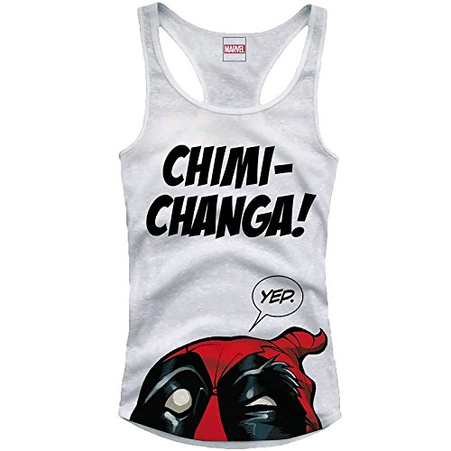 Deadpool Girlie Tank Top Chimi Changa Size S CODI