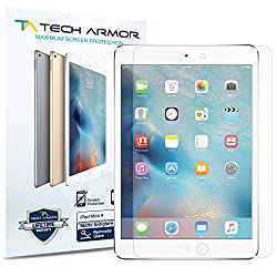 Tech Armor Apple iPad Mini 4 (2015) Anti-Glare/Anti-Fingerprint (Matte) Screen Protectors [2-Pack] Lifetime Warranty