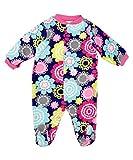 Fleece Baby Onesie Sleepsuits Boys Girls 0 3 months Floral Navy