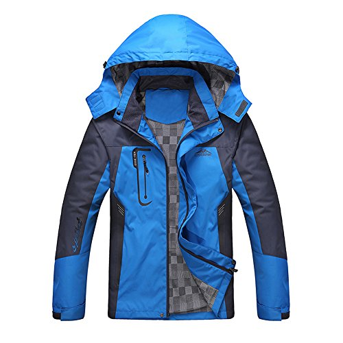 Diamond Candy Giacca a Vento softshell Uomo con cappuccio da Trekking Montagna Pouring Adventure e Outdoor Sports,Blu XL